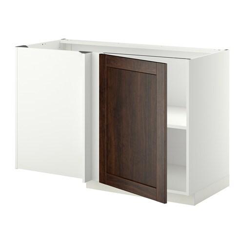 metod eckunterschrank mit boden wei edserum holzeffekt braun ikea. Black Bedroom Furniture Sets. Home Design Ideas