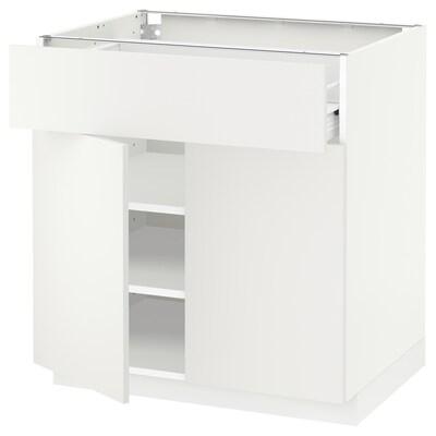 METOD / FÖRVARA Unterschr m Schub/2 Türen weiß/Häggeby weiß 80.0 cm 61.6 cm 88.0 cm 60.0 cm 80.0 cm