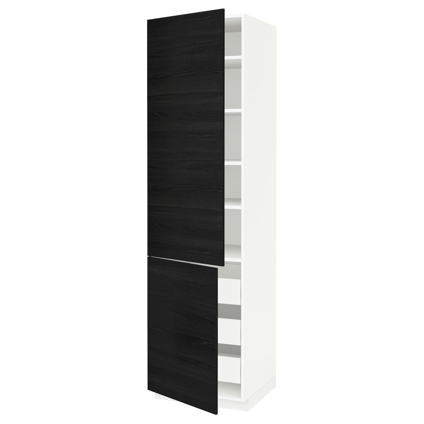 METOD / FÖRVARA, Hochschr. Böd/3 Schubl./2 Türen, weiß, schwarz 899.210.28