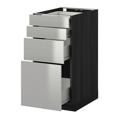 metod f rvara unterschr 4 fronten 4 schubladen holzeffekt schwarz grevsta edelstahl. Black Bedroom Furniture Sets. Home Design Ideas