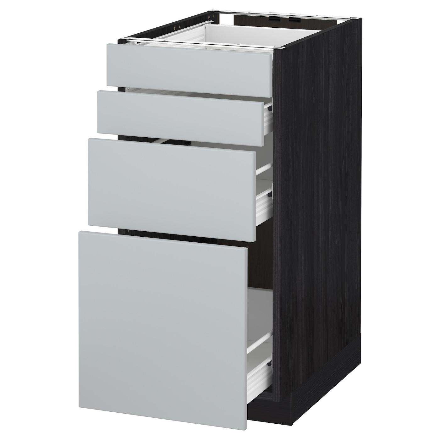 METOD / FÖRVARA, Unterschr., 4 Fronten/4 Schubladen, schwarz 090.500.43