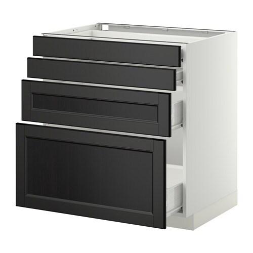 metod f rvara unterschr 4 fronten 4 schubladen wei laxarby schwarzbraun 80x60 cm ikea. Black Bedroom Furniture Sets. Home Design Ideas