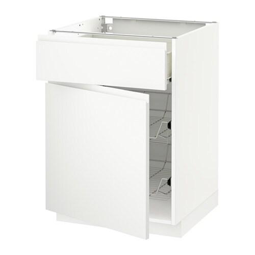 metod f rvara unterschrank mit drahtkorb t r wei voxtorp wei 60x60 cm ikea. Black Bedroom Furniture Sets. Home Design Ideas
