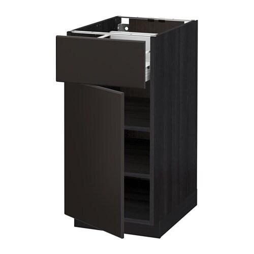 metod f rvara unterschrank mit schublade t r holzeffekt schwarz kungsbacka anthrazit 40x60. Black Bedroom Furniture Sets. Home Design Ideas