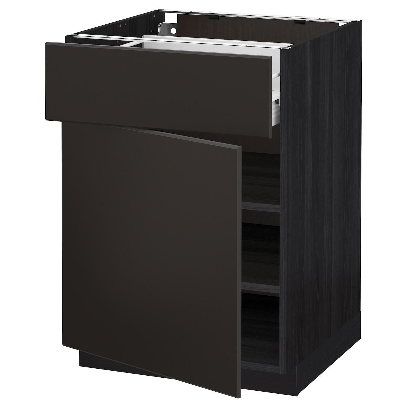 METOD / FÖRVARA, Unterschrank mit Schublade/Tür, schwarz 792.126.26