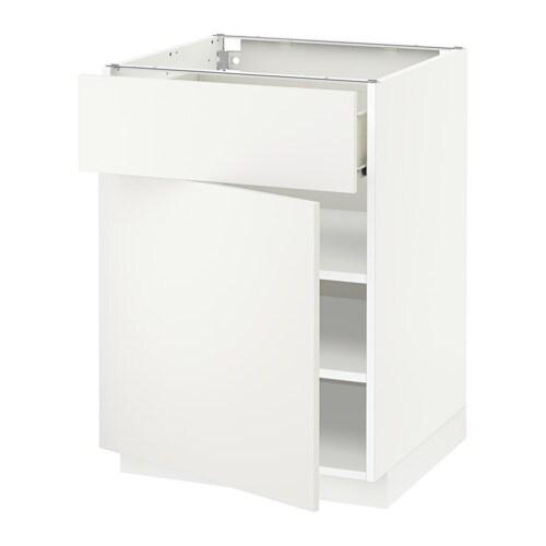 metod f rvara unterschrank mit schublade t r wei h ggeby wei 60x60 cm ikea. Black Bedroom Furniture Sets. Home Design Ideas