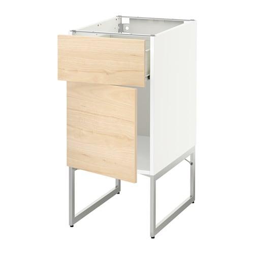 metod f rvara unterschrank mit schublade t r wei askersund eschenachbildung hell 40x60x60. Black Bedroom Furniture Sets. Home Design Ideas