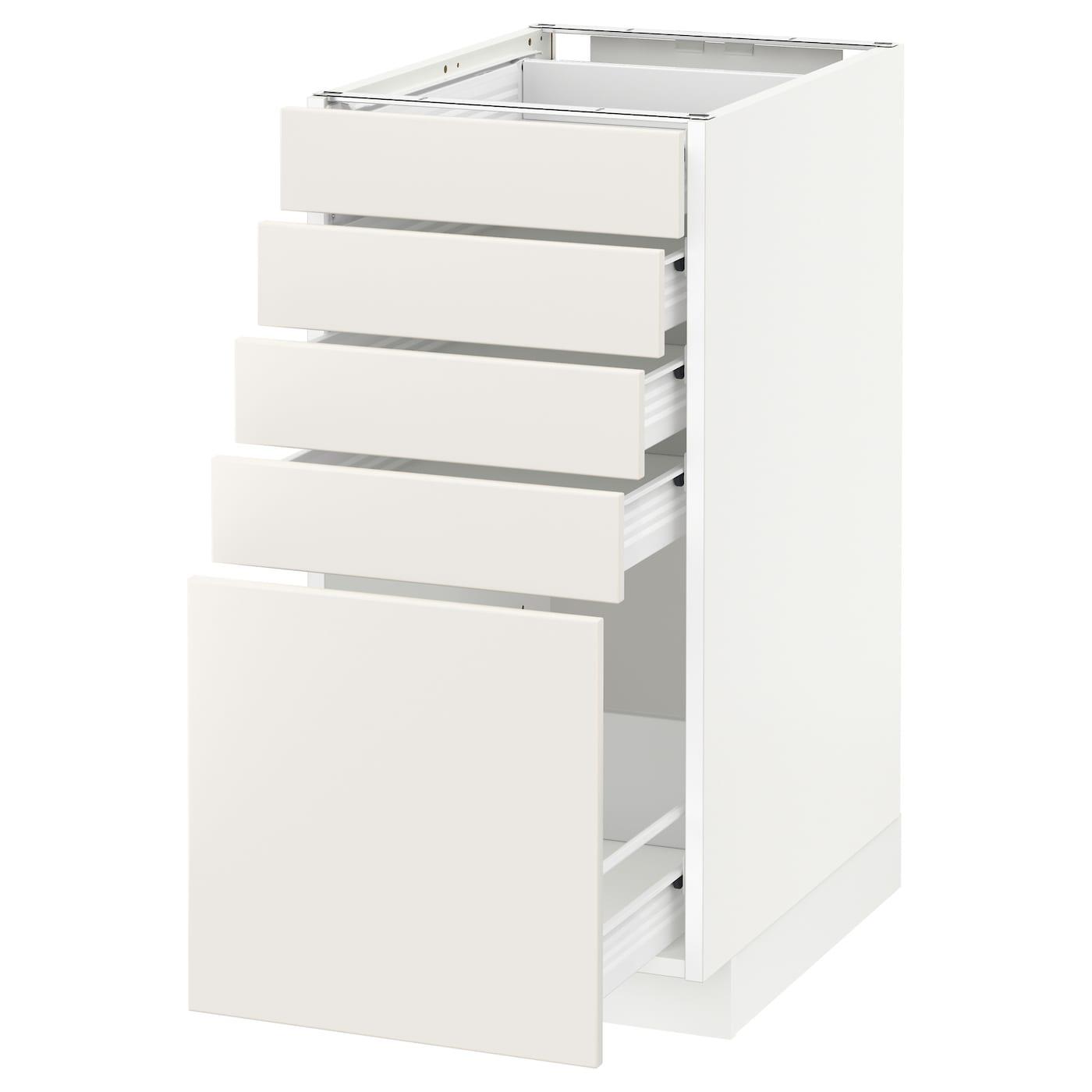 METOD / FÖRVARA, Unterschrank mit 5 Schubladen, weiß 490.502.77