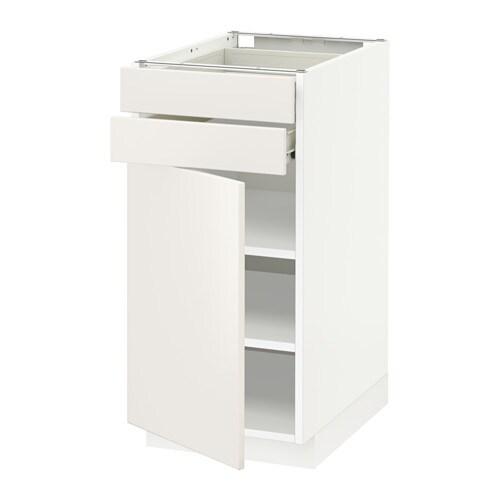 Aspelund Kleiderschrank Von Ikea ~ METOD  FÖRVARA Unterschrank mit Tür+2 Schubladen  weiß, Veddinge
