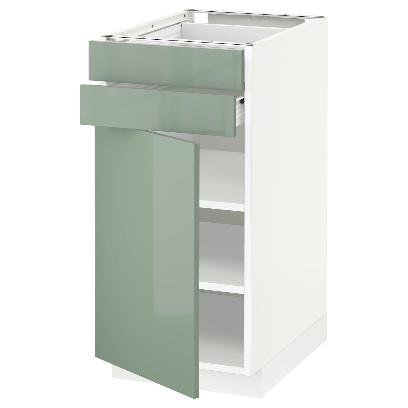 METOD / FÖRVARA, Unterschrank mit Tür+2 Schubladen, weiß 191.445.41