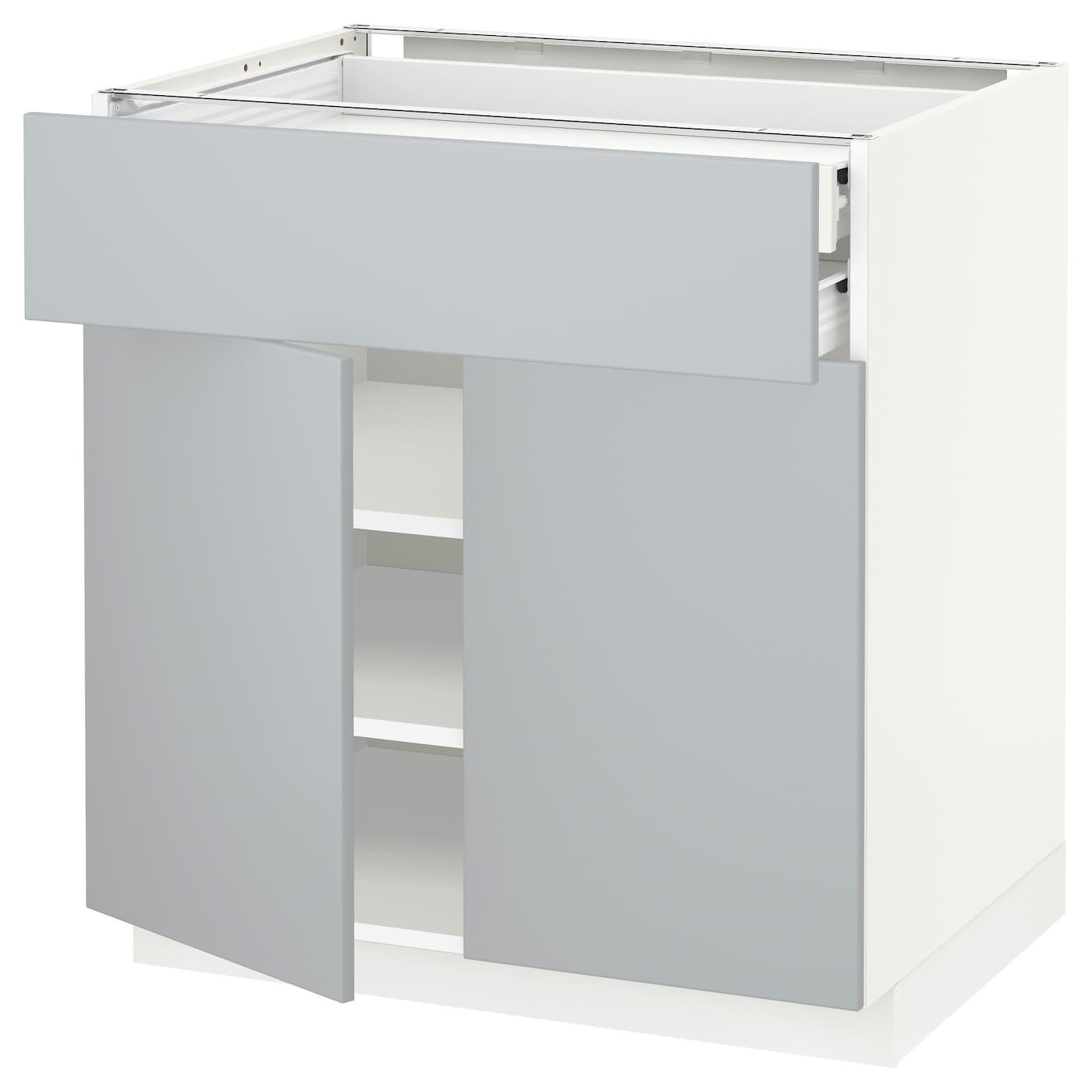 METOD / FÖRVARA, Unterschrank mit 2 Türen, 2 Schubl., weiß 990.248.27