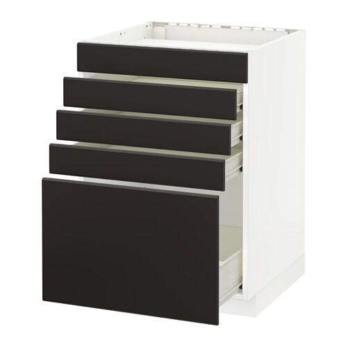 metod f rvara uschr f kochf 5 fr 4 schubl wei kungsbacka anthrazit 60x60 cm ikea. Black Bedroom Furniture Sets. Home Design Ideas