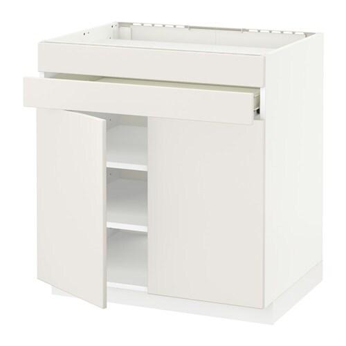 metod f rvara uschr f kochf 2 t 2 fr 1 schubl wei veddinge wei ikea. Black Bedroom Furniture Sets. Home Design Ideas
