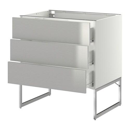 metod f rvara uschr 3 fr 3 haho sch wei grevsta edelstahl 80x60x60 cm ikea. Black Bedroom Furniture Sets. Home Design Ideas