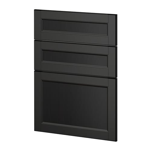 metod 3 fronten f r geschirrsp ler laxarby schwarzbraun ikea. Black Bedroom Furniture Sets. Home Design Ideas