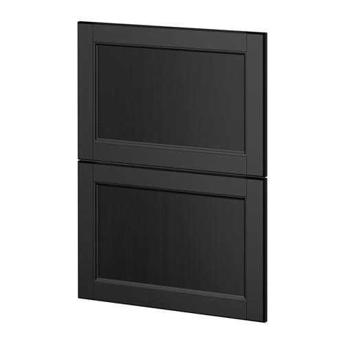 metod 2 fronten f r geschirrsp ler laxarby schwarzbraun ikea. Black Bedroom Furniture Sets. Home Design Ideas