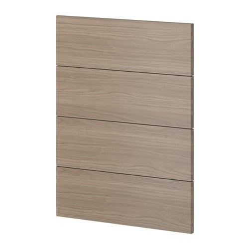 metod 4 fronten f r geschirrsp ler brokhult nussbaumnachbildung hellgrau ikea. Black Bedroom Furniture Sets. Home Design Ideas