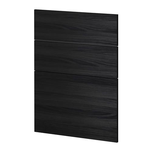 metod 3 fronten f r geschirrsp ler tingsryd holzeffekt schwarz ikea. Black Bedroom Furniture Sets. Home Design Ideas