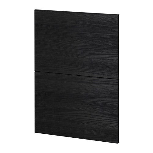 metod 2 fronten f r geschirrsp ler tingsryd holzeffekt schwarz ikea. Black Bedroom Furniture Sets. Home Design Ideas