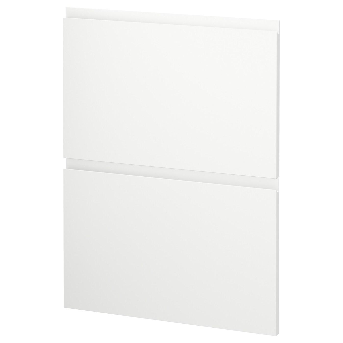 METOD, 2 Fronten für Geschirrspüler, Voxtorp matt weiß weiß, weiß 291.724.25