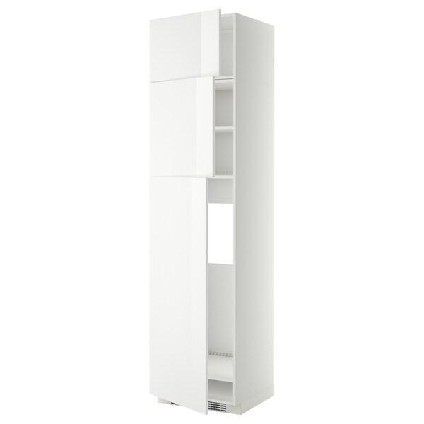 METOD HS f Kühlschr m 3 Türen weiß/Ringhult weiß 60.0 cm 61.8 cm 248.0 cm 60.0 cm 240.0 cm