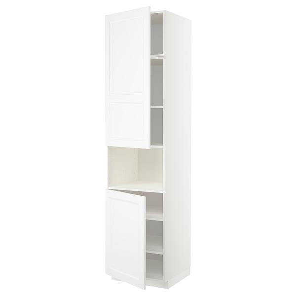 METOD Hochschr. f Mikrow.+2Türen/Bö, weiß/Axstad matt weiß, 60x60x240 cm