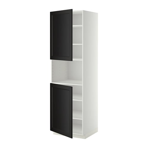 metod hochschr f mikrow 2t ren b wei laxarby. Black Bedroom Furniture Sets. Home Design Ideas