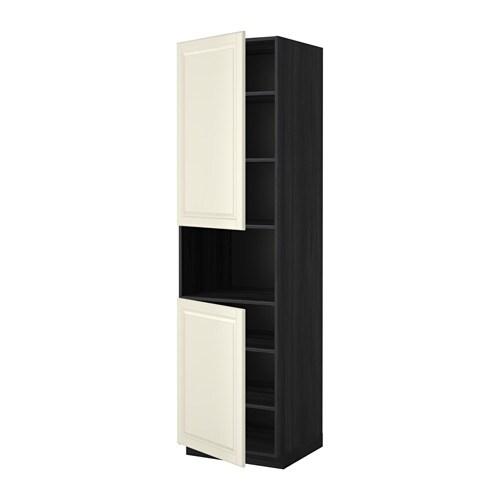 metod hochschr f mikrow 2t ren b holzeffekt schwarz. Black Bedroom Furniture Sets. Home Design Ideas