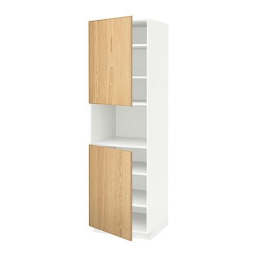 metod hochschr f mikrow 2t ren b wei ekestad eiche 60x60x200 cm ikea. Black Bedroom Furniture Sets. Home Design Ideas
