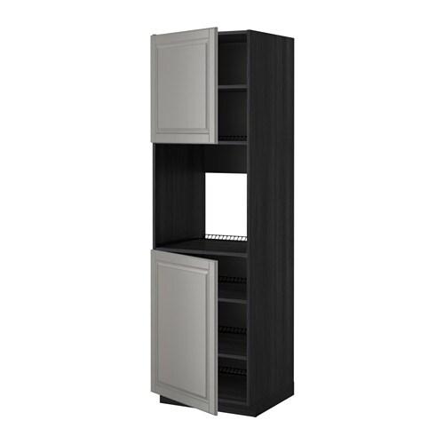 metod hochschr f ofen 2 t ren b den holzeffekt schwarz bodbyn grau 60x60x200 cm ikea. Black Bedroom Furniture Sets. Home Design Ideas