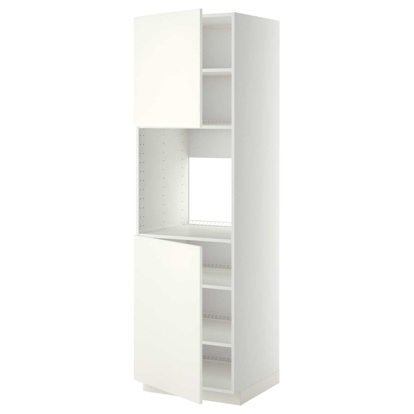 METOD Korpus Hochschrank/Kühl-/Ofen - weiß, 60x60x200 cm - IKEA