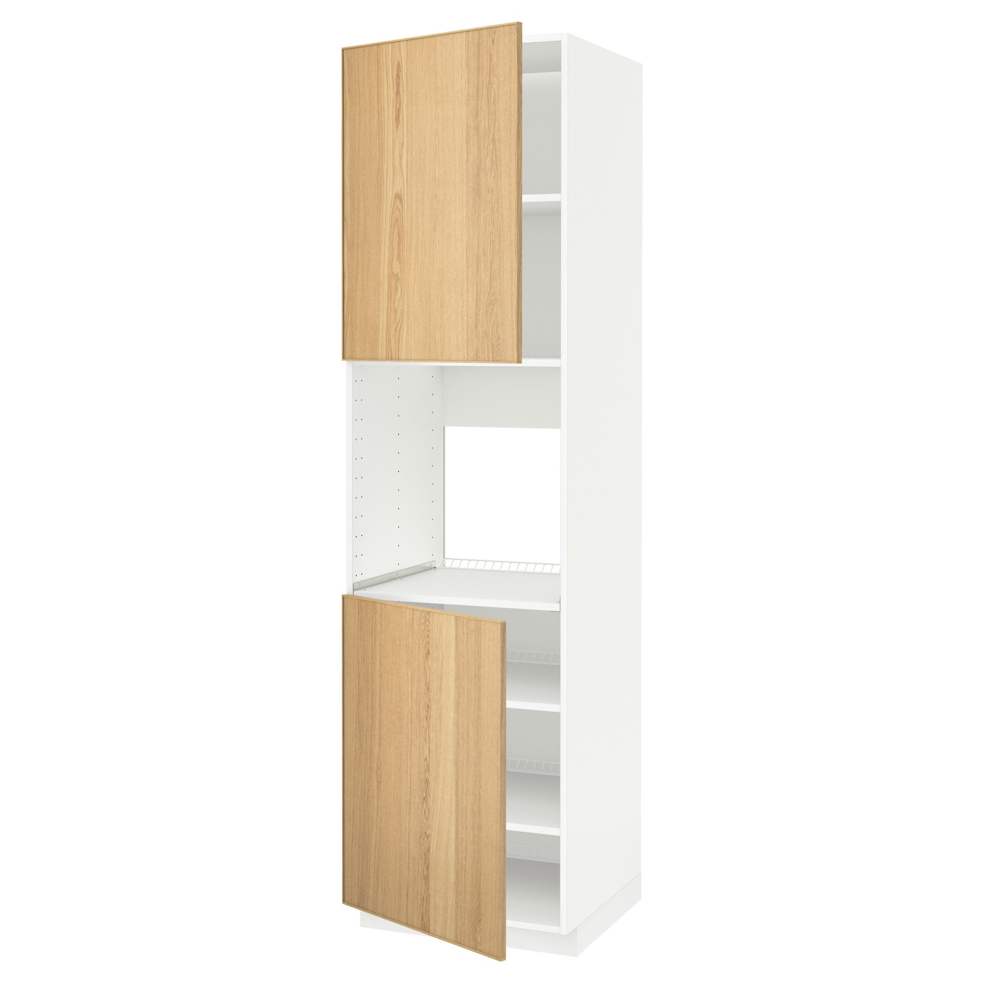 METOD, Hochschr. für Ofen+2 Türen/Böden, weiß 690.533.12
