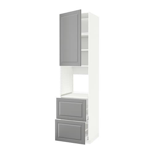metod hochschrank f backofen t r 2schubl wei bodbyn grau ikea. Black Bedroom Furniture Sets. Home Design Ideas