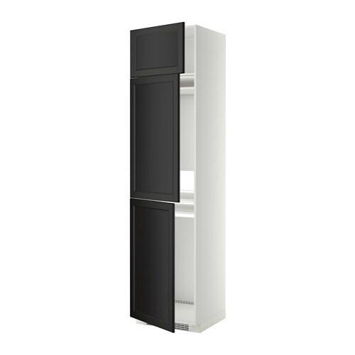 KühlGefrierschr+3Tür  weiß, Laxarby schwarzbraun  IKEA