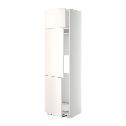 Kleiderschrank Ikea Birkeland ~ METOD Hochschrank f Kühl Gefrierschr+3Tür  weiß, Veddinge weiß
