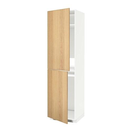metod hochschrank f k hl gefrierschrank wei ekestad eiche 60x60x220 cm ikea. Black Bedroom Furniture Sets. Home Design Ideas