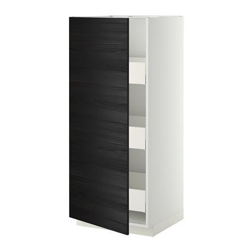 metod hochschrank m schubladen wei tingsryd holzeffekt. Black Bedroom Furniture Sets. Home Design Ideas