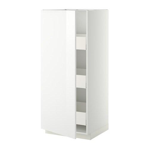 metod hochschrank m schubladen wei ringhult hochglanz wei 60x60x140 cm ikea. Black Bedroom Furniture Sets. Home Design Ideas