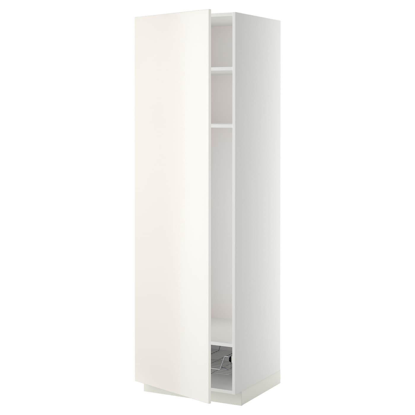 METOD Hochschrank mit Einlegeböden - weiß, Veddinge weiß, 60x60x200 ...