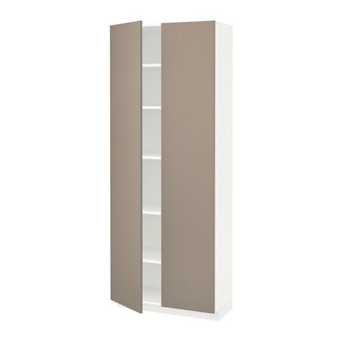 metod hochschrank mit einlegeb den wei ubbalt dunkelbeige 80x37x200 cm ikea. Black Bedroom Furniture Sets. Home Design Ideas