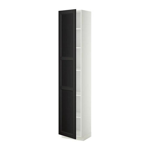 metod hochschrank mit einlegeb den wei laxarby schwarzbraun 40x37x200 cm ikea. Black Bedroom Furniture Sets. Home Design Ideas