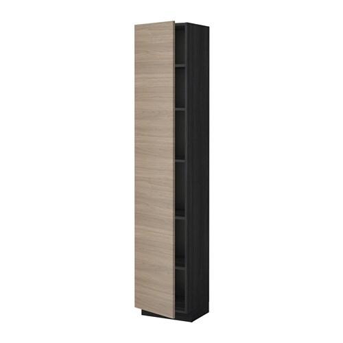 metod hochschrank mit einlegeb den holzeffekt schwarz brokhult nussbaumnachbildung hellgrau. Black Bedroom Furniture Sets. Home Design Ideas