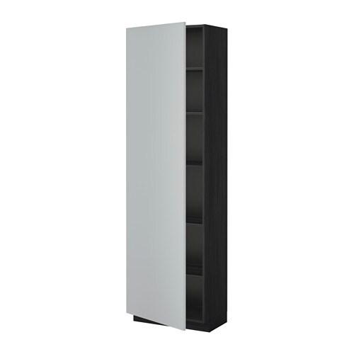 metod hochschrank mit einlegeb den holzeffekt schwarz veddinge grau 60x37x200 cm ikea. Black Bedroom Furniture Sets. Home Design Ideas