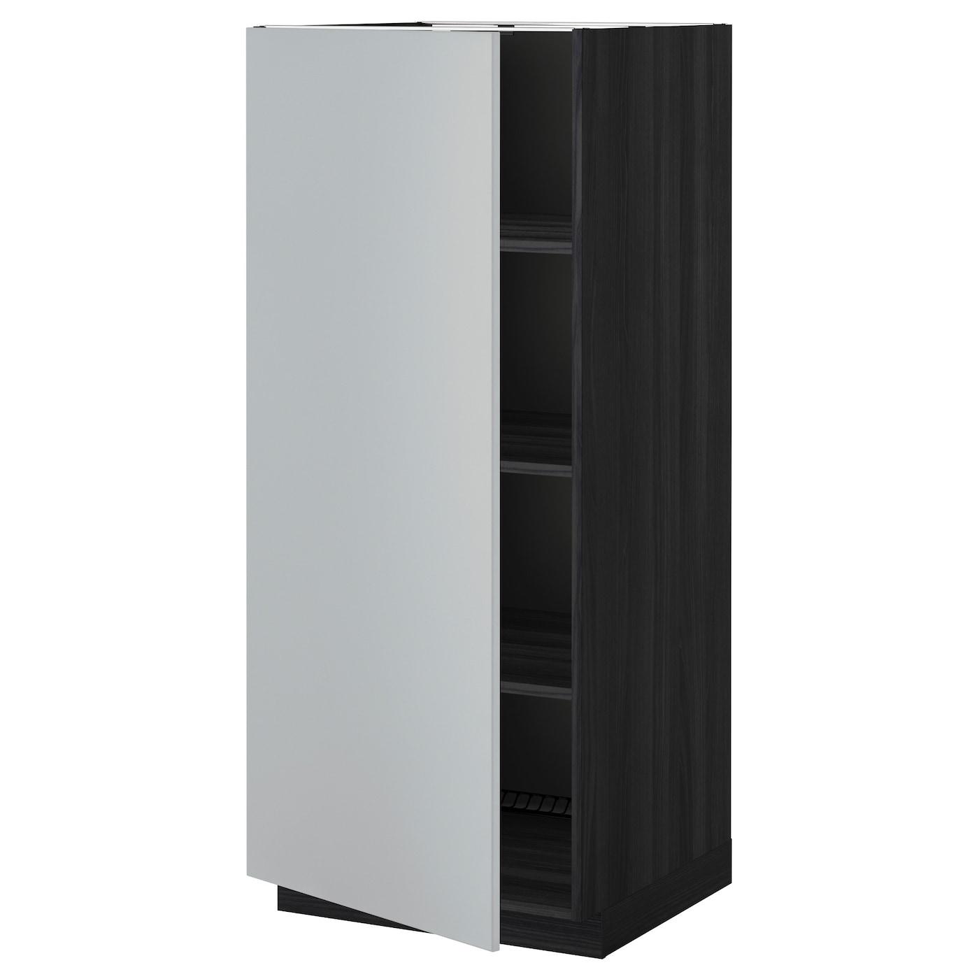 METOD, Hochschrank mit Einlegeböden, schwarz 299.229.88