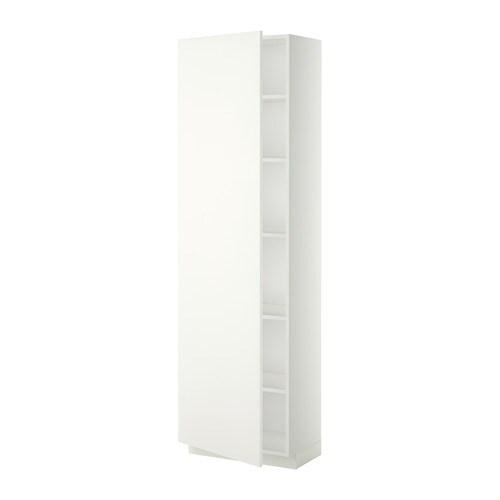 metod hochschrank mit einlegeb den wei h ggeby wei 60x37x200 cm ikea. Black Bedroom Furniture Sets. Home Design Ideas