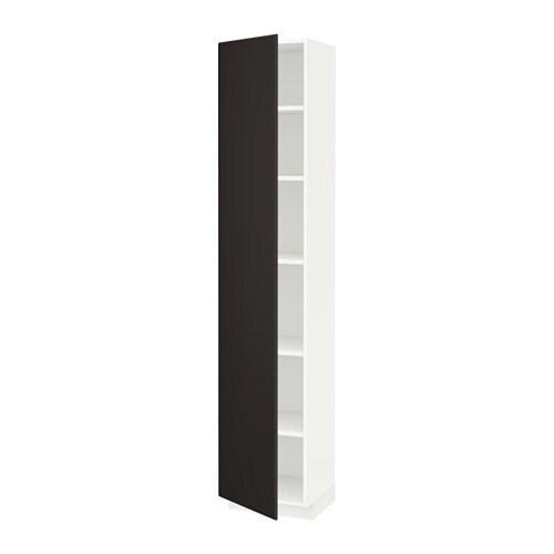 metod hochschrank mit einlegeb den wei kungsbacka anthrazit 40x37x200 cm ikea. Black Bedroom Furniture Sets. Home Design Ideas