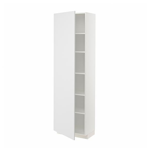 METOD Hochschrank mit Einlegeböden, weiß/Stensund weiß, 60x37x200 cm