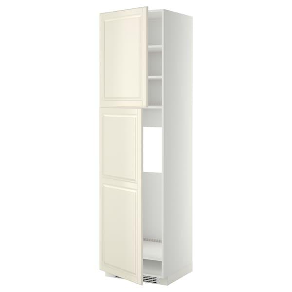 METOD HS f Kühlschr m 2 Türen, weiß/Bodbyn elfenbeinweiß, 60x60x220 cm