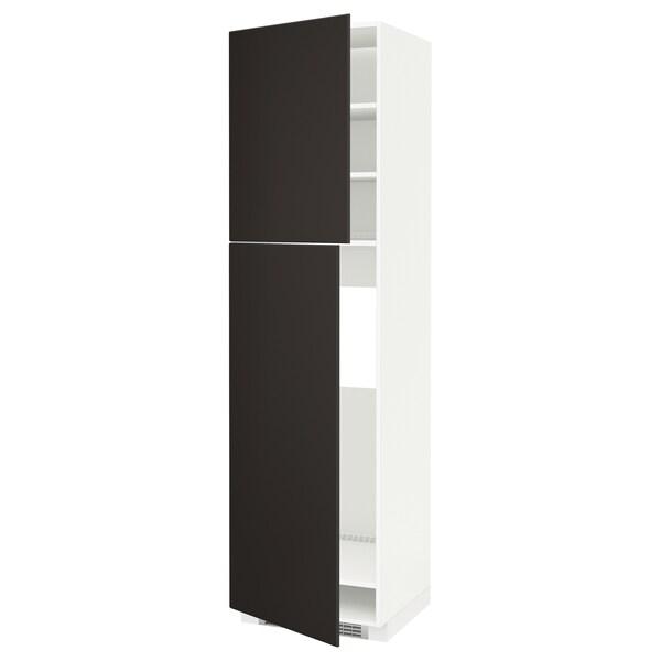 METOD HS f Kühlschr m 2 Türen, weiß/Kungsbacka anthrazit, 60x60x220 cm