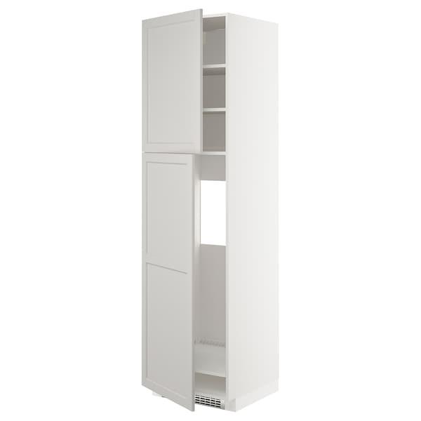 METOD HS f Kühlschr m 2 Türen, weiß/Lerhyttan hellgrau, 60x60x220 cm
